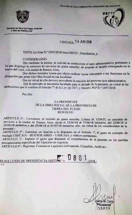 Decreto de Liliana Conti