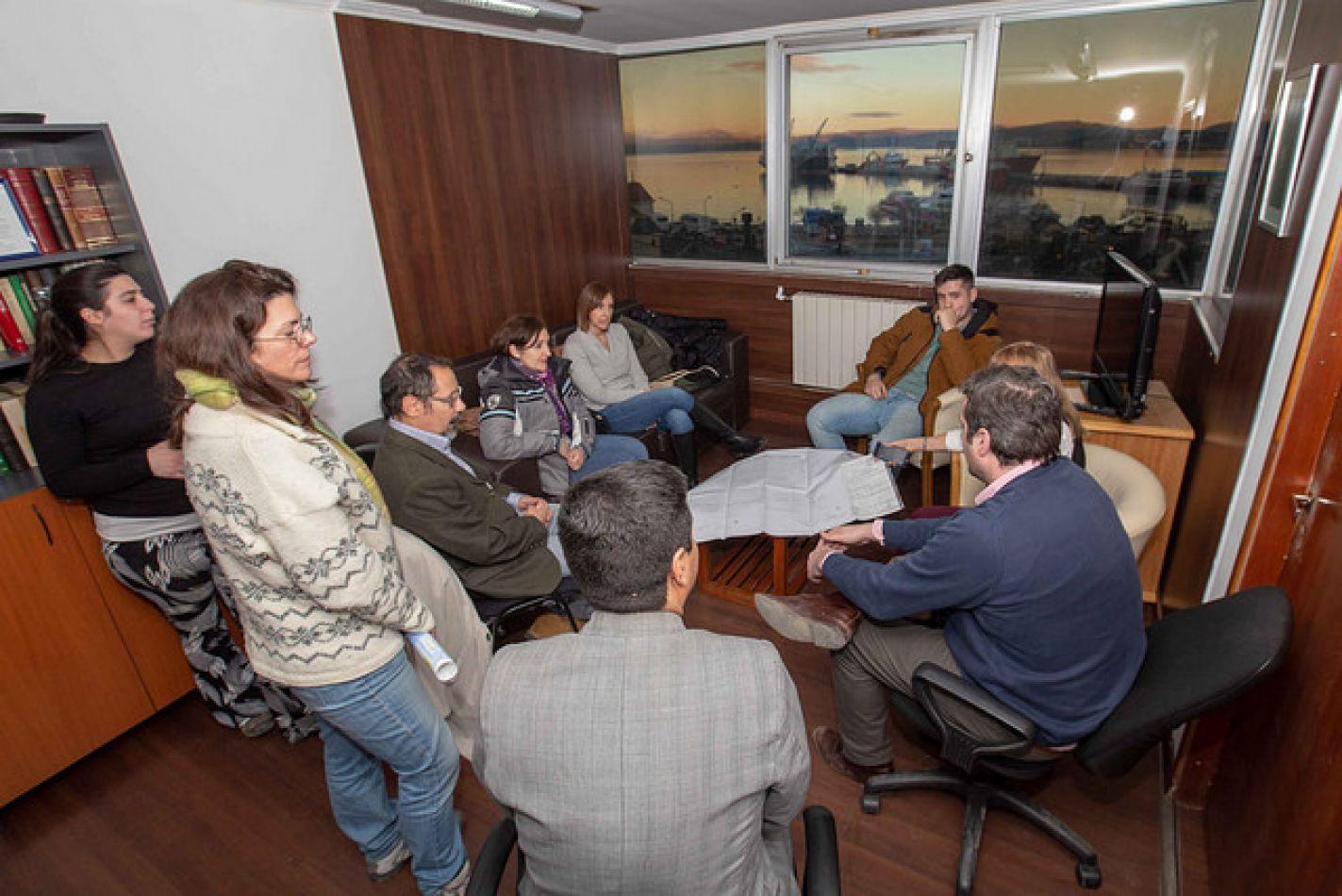 Funcionarios fueguinos se reunieron con representantes de la Estancia Moat
