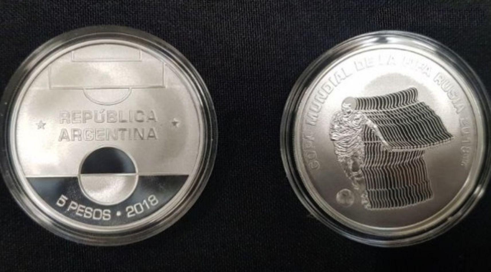 Lanzamiento de moneda de $5 por el Mundial