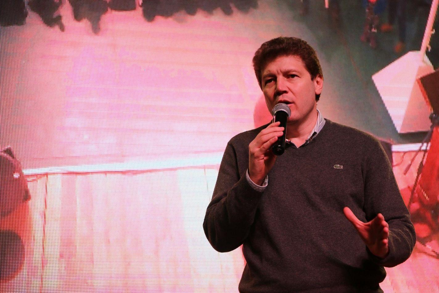 En imagen el intendente Gustavo Melella